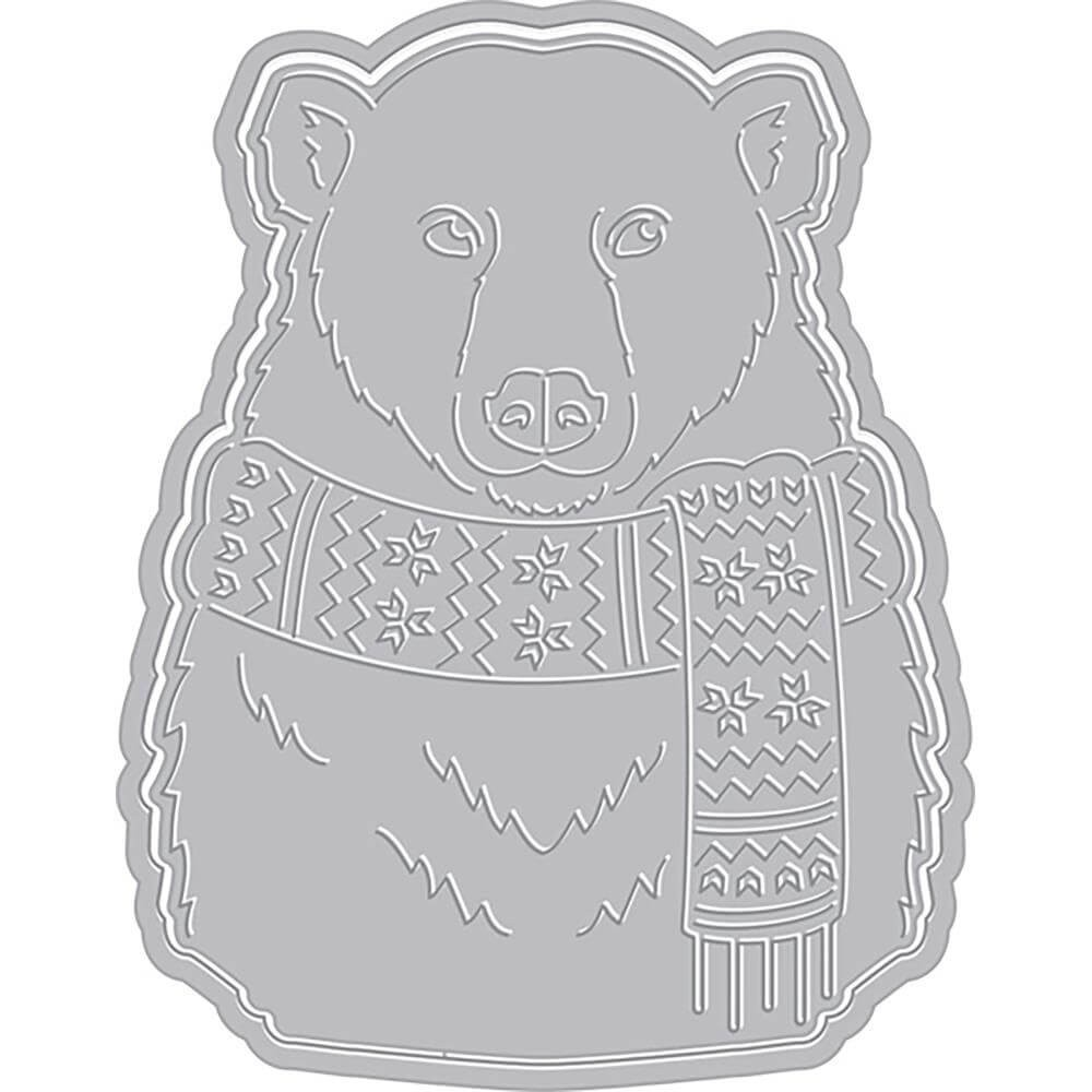 Matrice de Découpe Paper Layering Bear With Frame