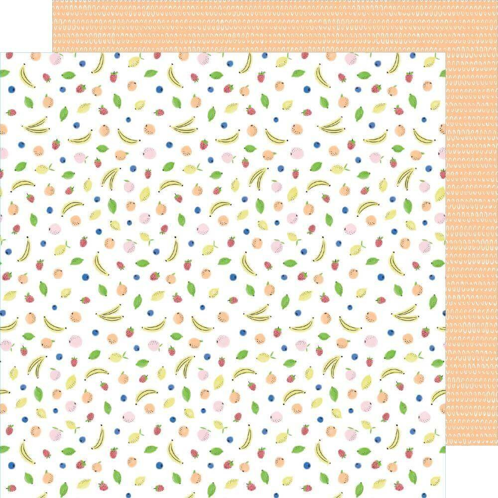 Papier Imprimé Recto-verso 12x12 Stay Sweet Fruit Cocktail