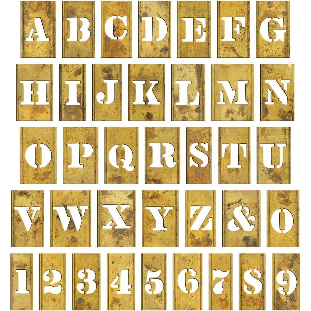 Chipboard Pochoir Lettres Idea-ology