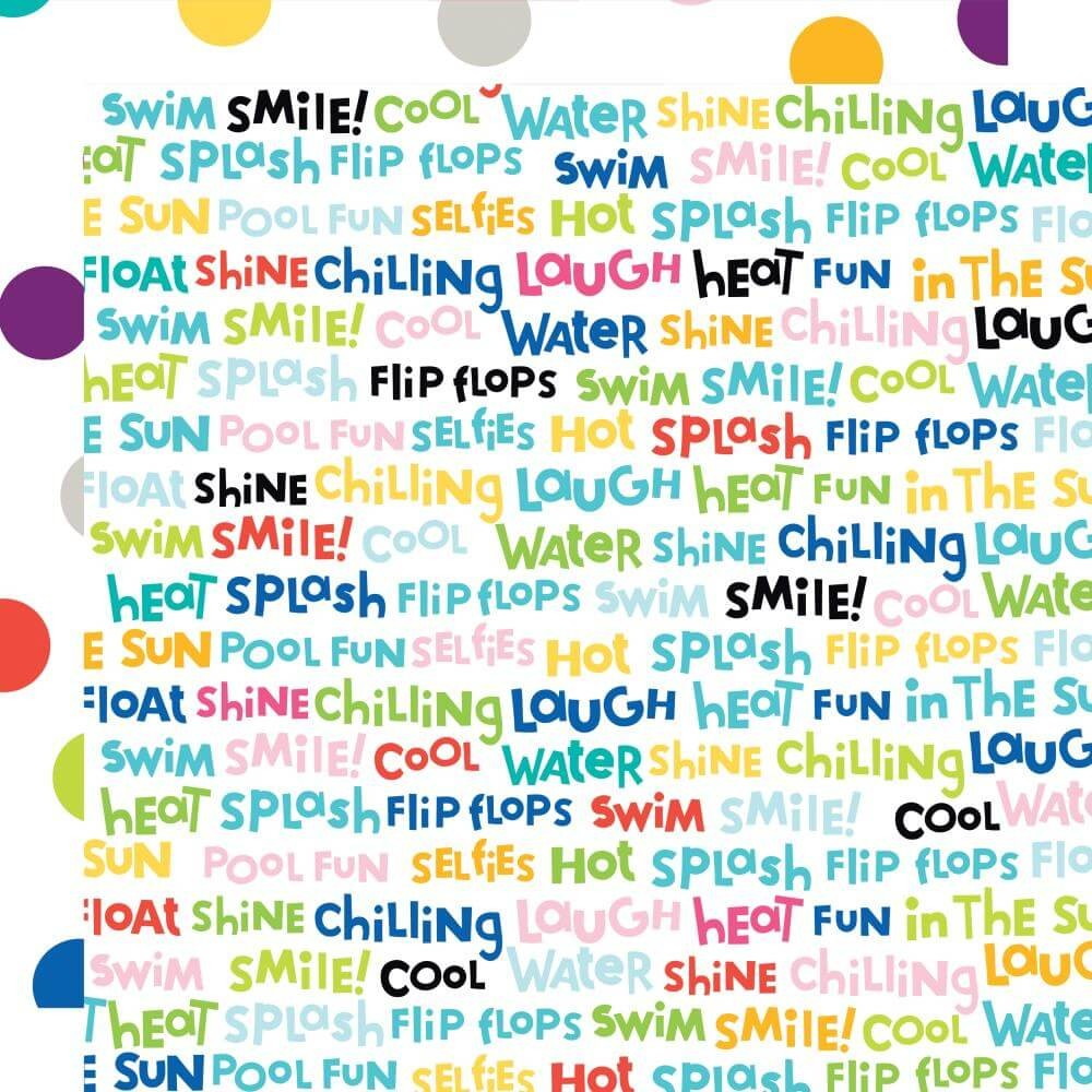Papier Imprimé Recto-verso 12x12 Splash Zone Word Jumble