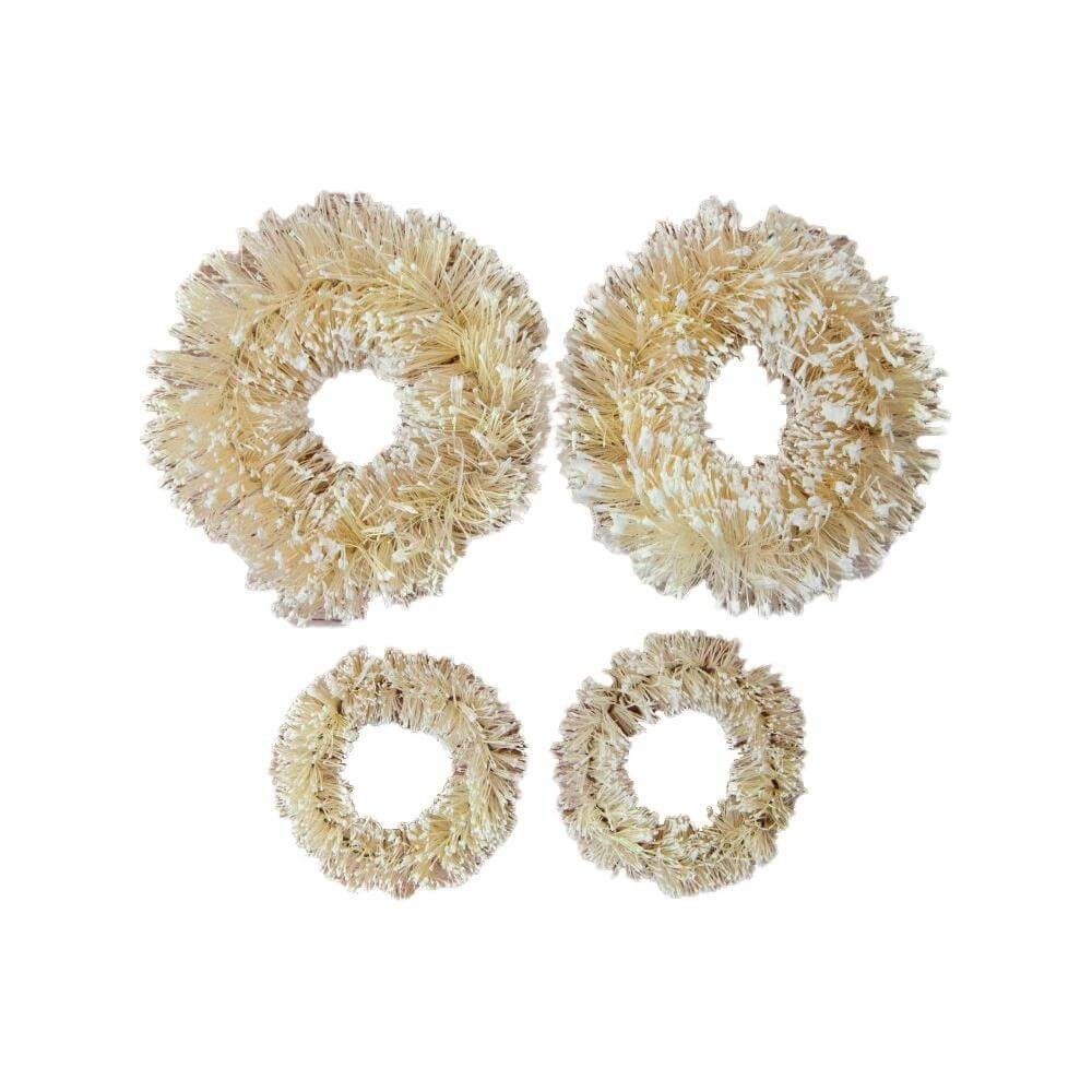 Pièces en Bois Christmas In The Country Sisal Wreaths