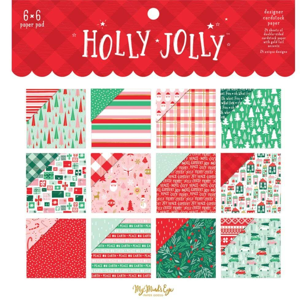 Stack Papiers Imprimés 6x6 Holly Jolly