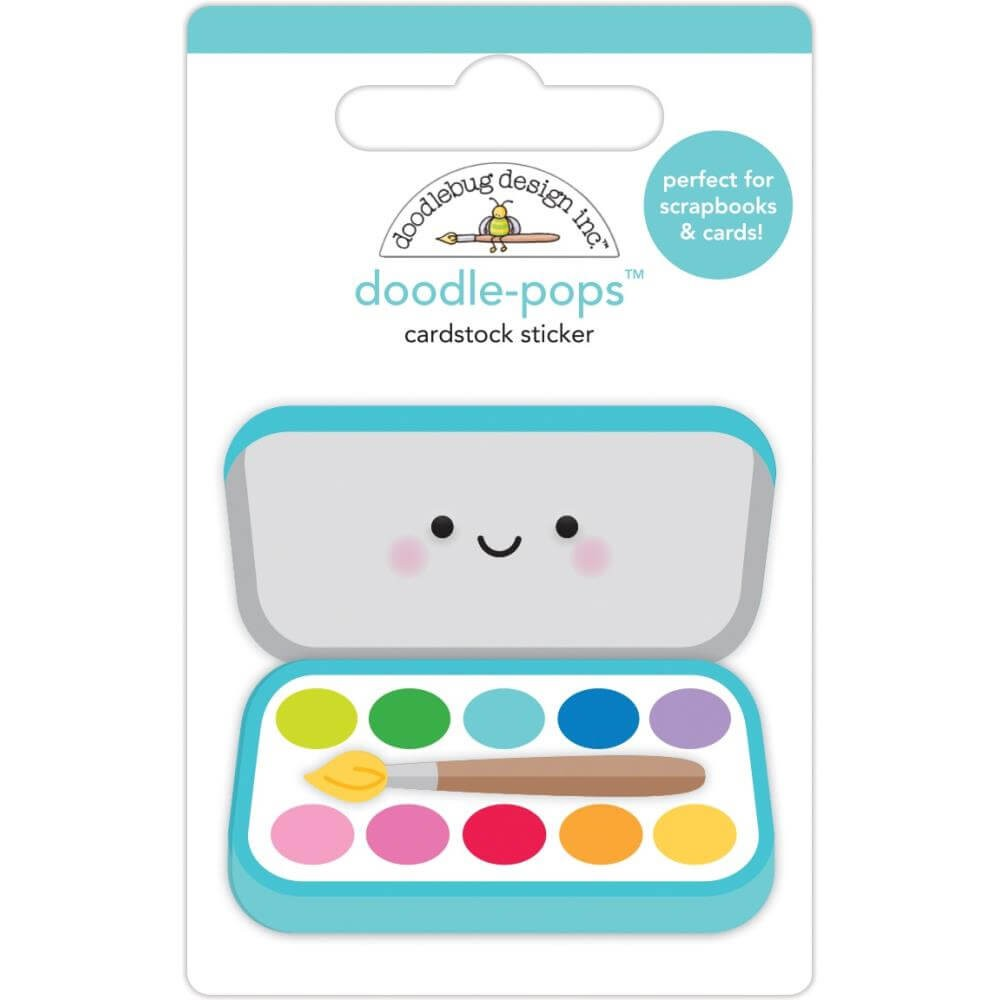 Autocollants 3D School Days Paint Box