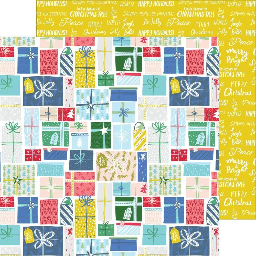 Papier Imprimé Recto-verso 12x12 Home For The Holidays Holiday Gifts