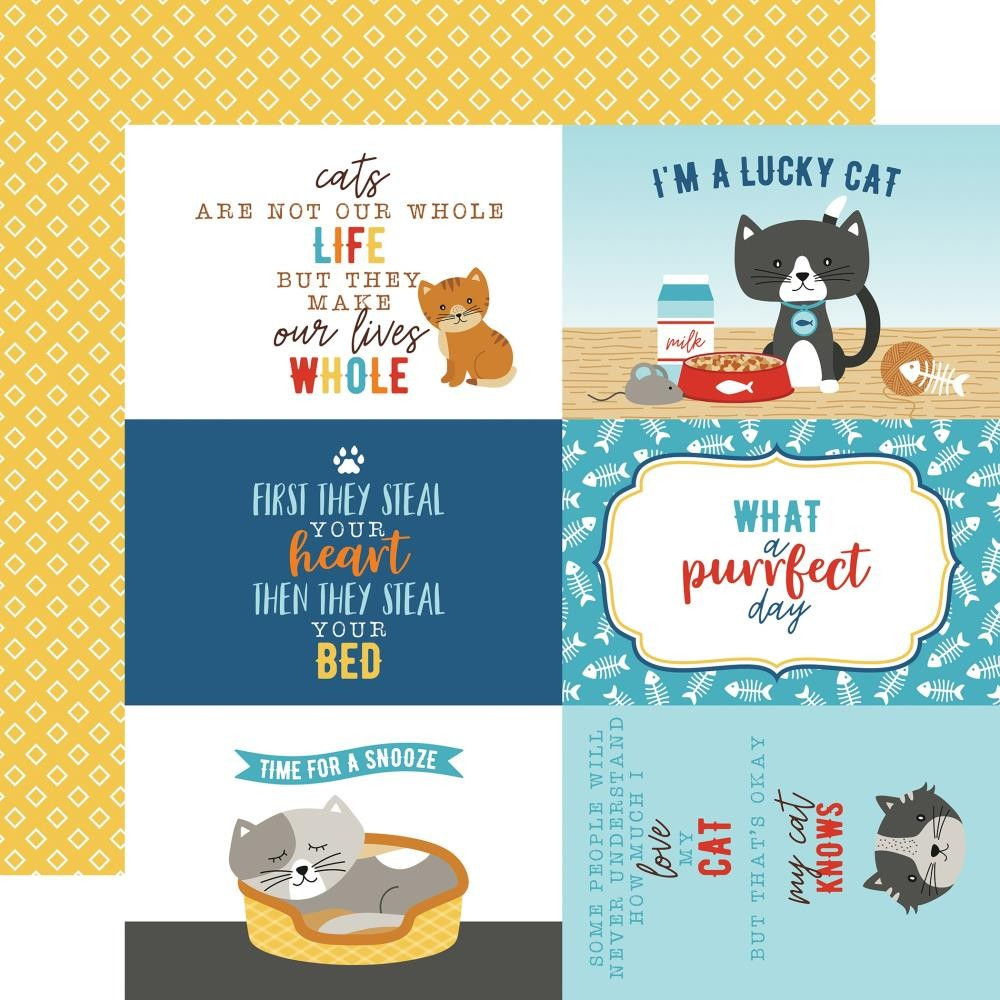 "Papier Imprimé Recto-verso 12x12 I Love My Cat 4""X6"" Journaling Cards"
