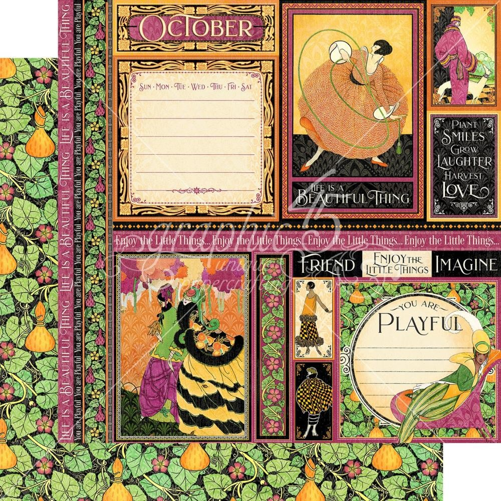 Papier Imprimé Recto-verso 12x12 Fashion Forward October