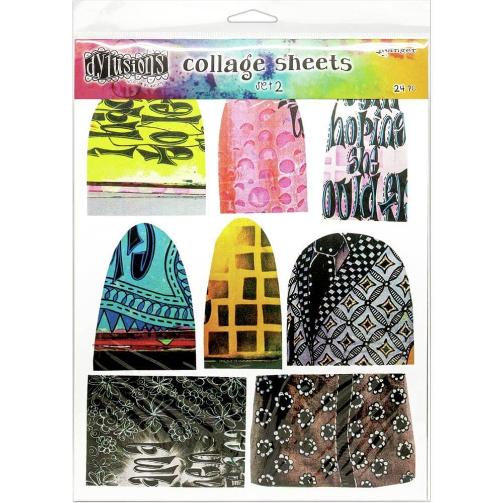 Die Cuts Dyan Reaveley's Dylusions Collage Sheets Set 2
