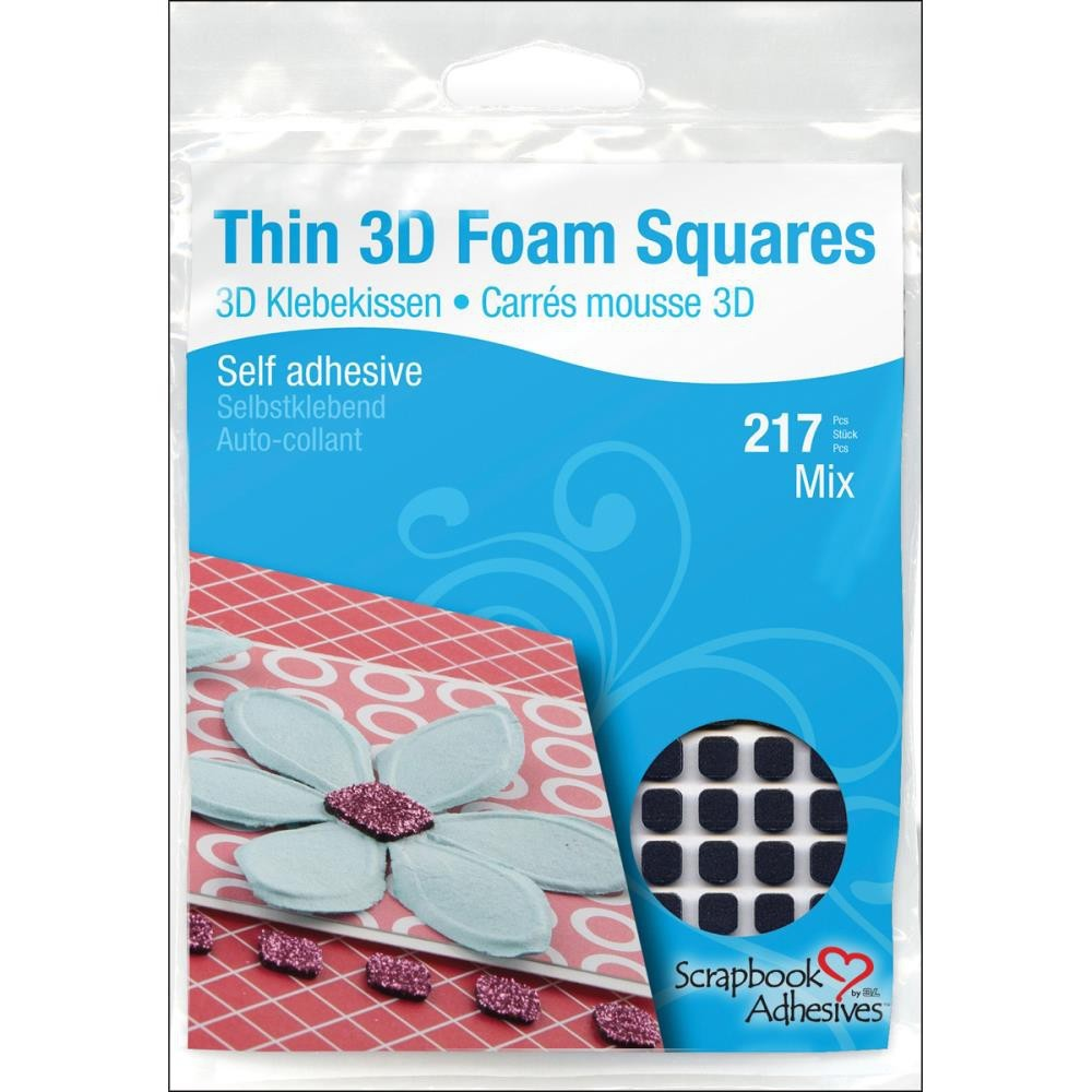217 Thin Mix black Foam Squares