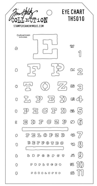 Tim Holtz Eye Chart Mask