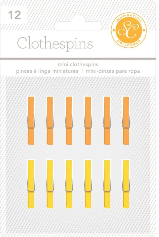 Petites Pinces Essentials Jaune et Orange