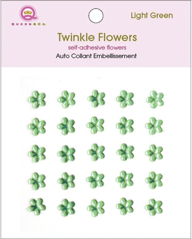 Twinkle Flowers Light Green