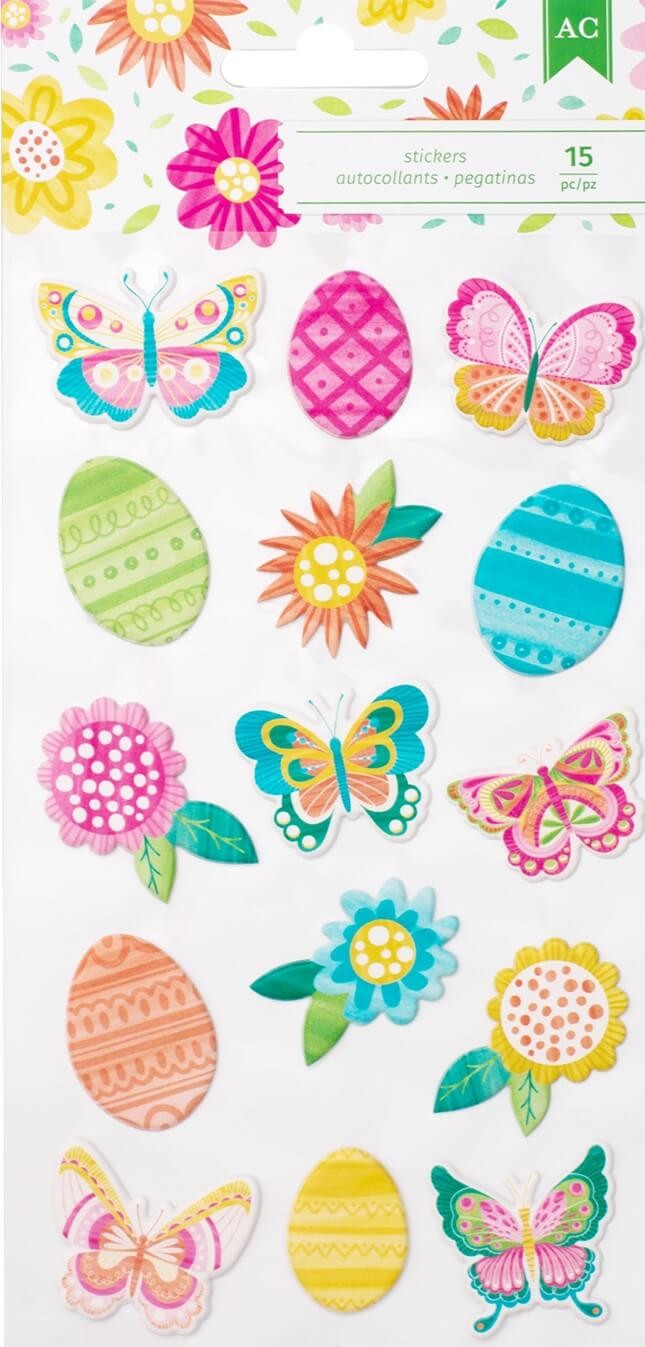Autocollants Puffy Hello Spring - Icons