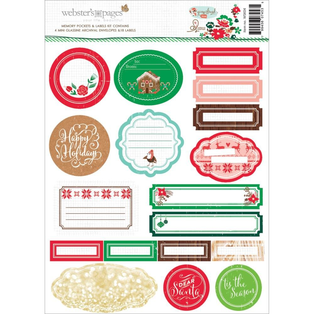 Gingerbread Village Memory Pockets & Labels