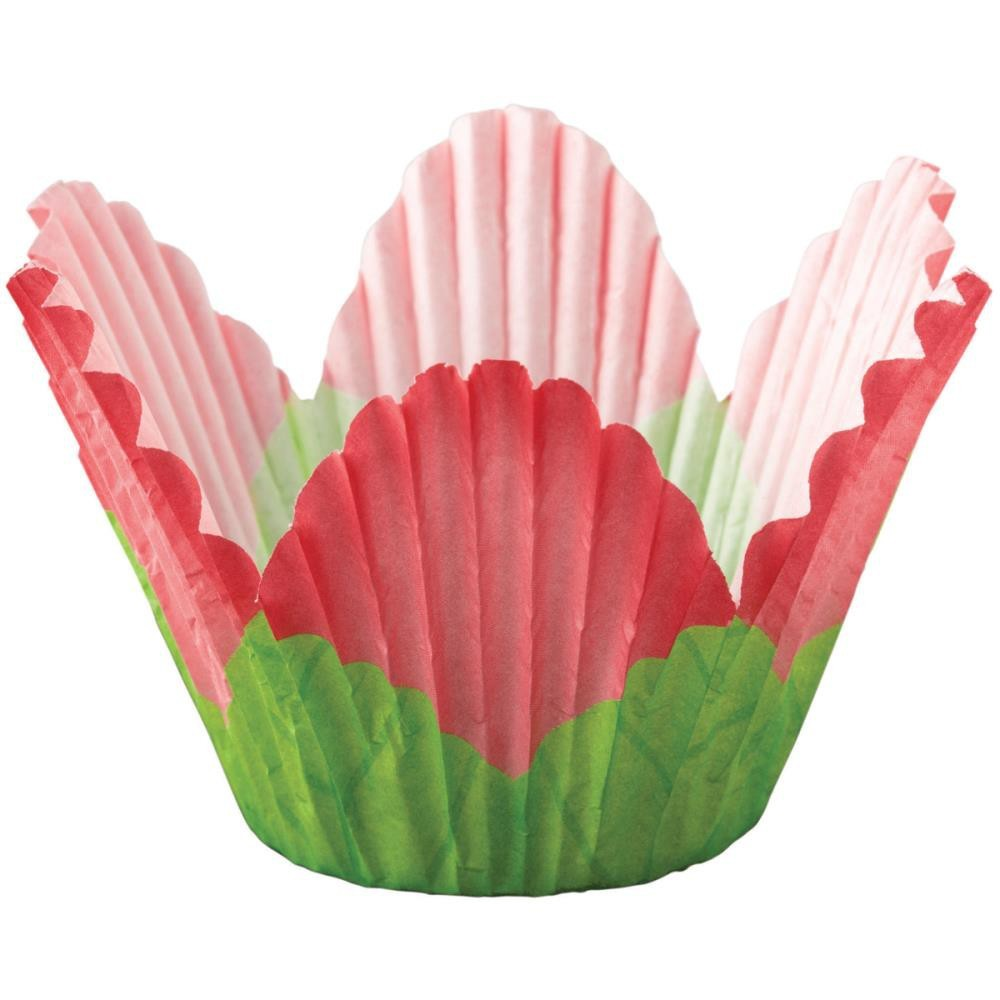 Petal Standart Baking Cups Red