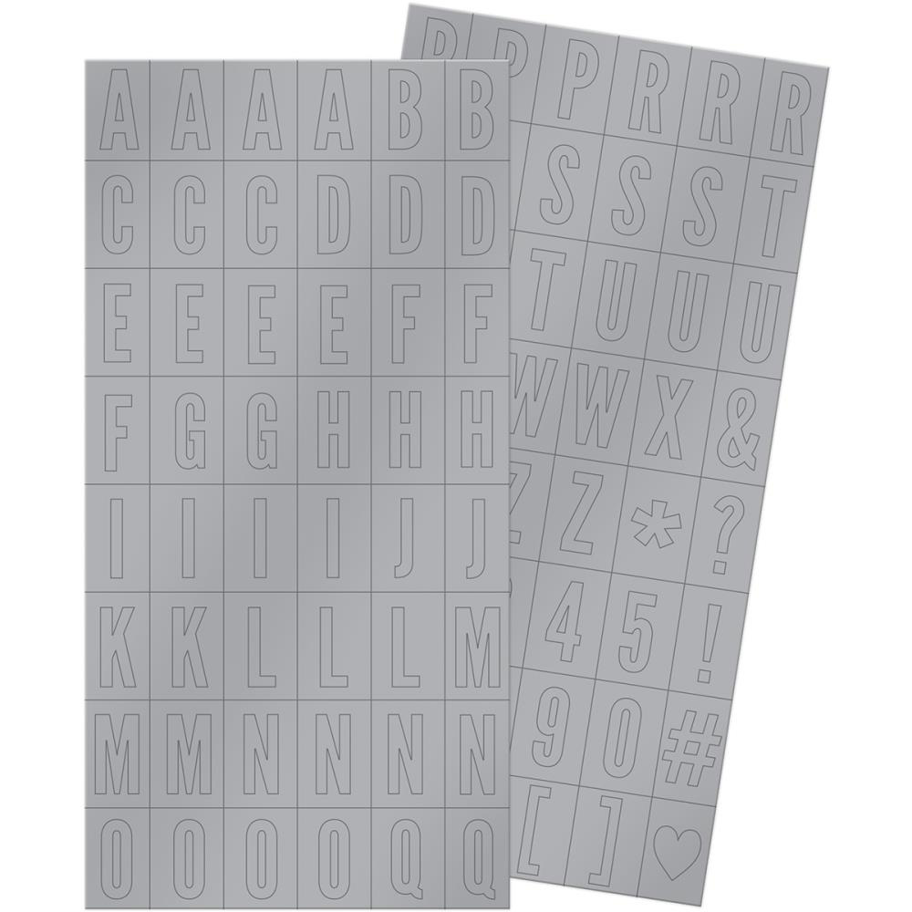Autocollants Alphabets Silver & Gold Block Stickers -20% PROMO