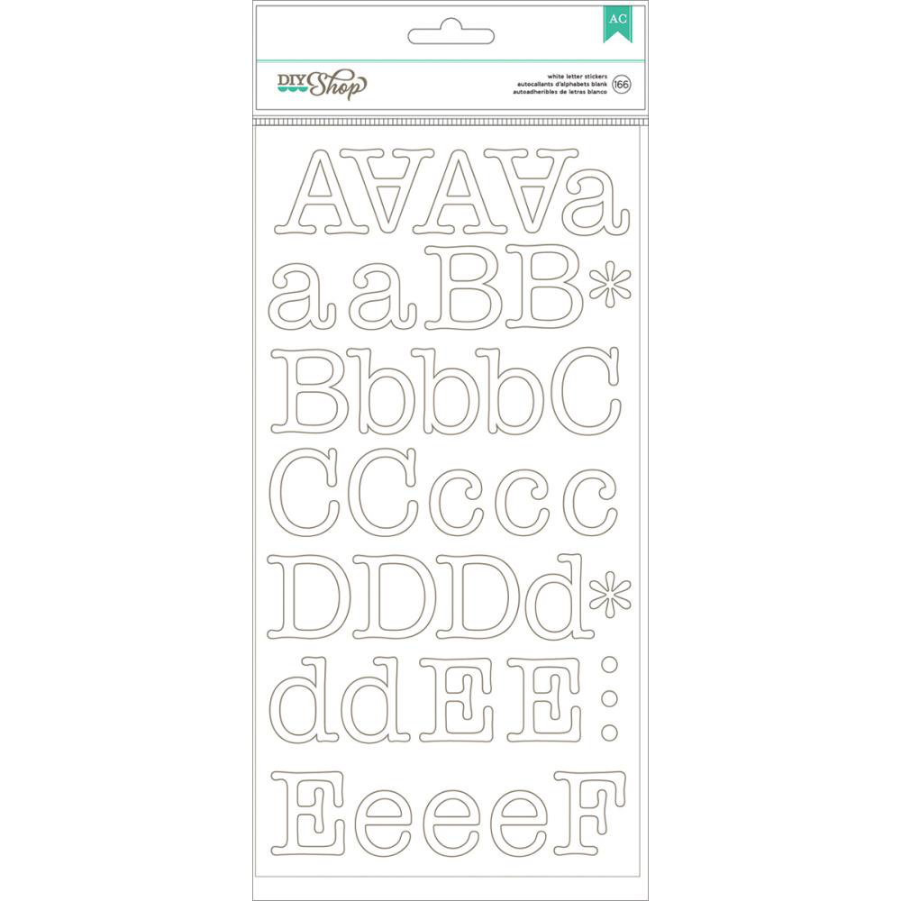 Autocollants Alphabets Typewriter/White Alpha Stickers -20% PROMO