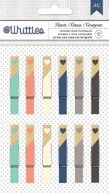 Hearts Small Clothespins Desktop Essentials