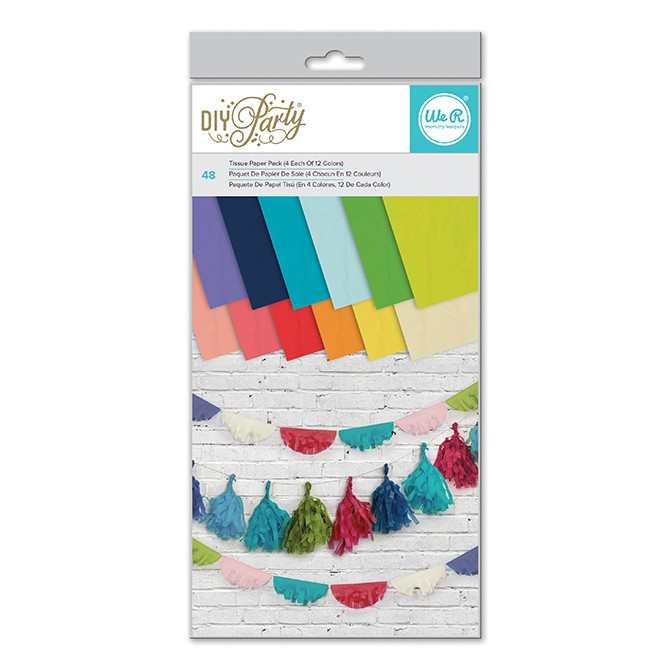 """DIY Party Tissue Paper Pack 6"""" x 12"""""""