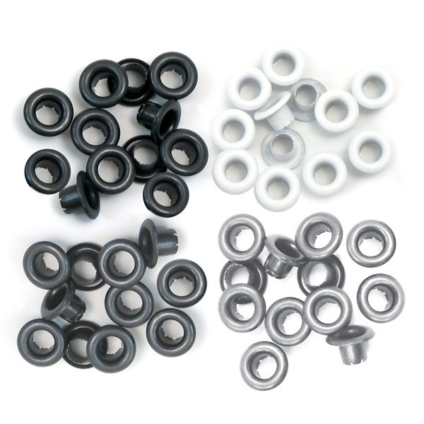 60 Eyelets Gris 5 mm