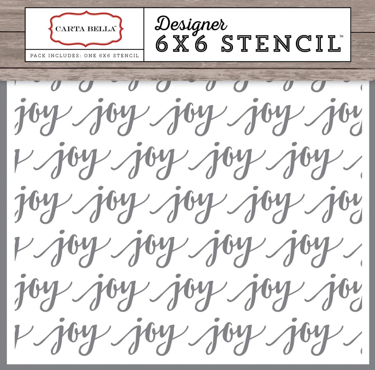 Pochoir 6x6 Christmas Delivery - Joy
