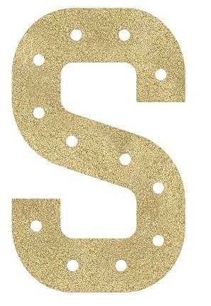 Insert S Marquee Gold Glitter