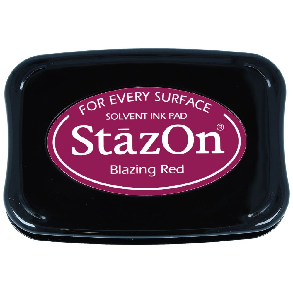 Encre StazOn Blazing Red