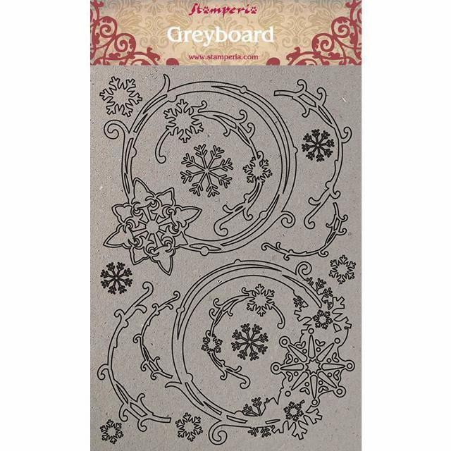 Chipboard Winter Tales Snowflakes and Garlands