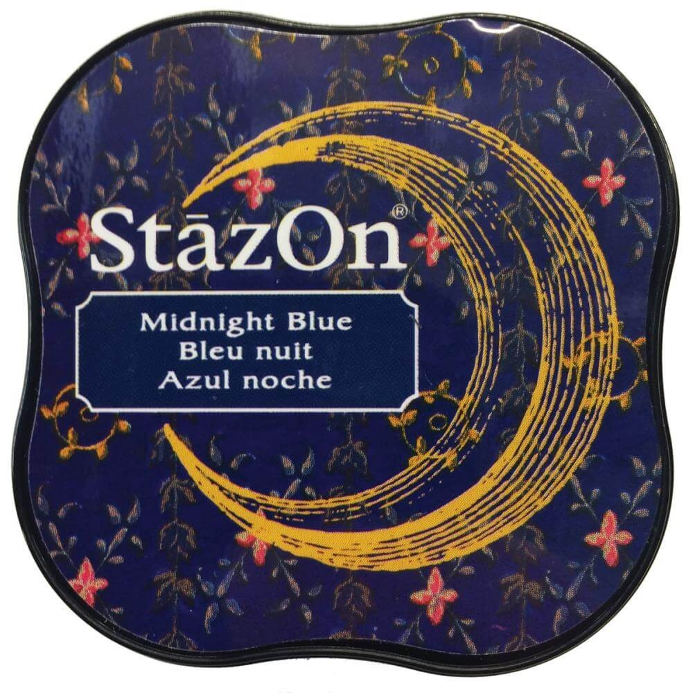Encre StazOn Midi Midnight Blue