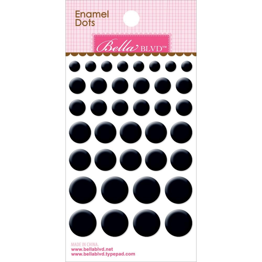 Enamel Oreo Black Dots