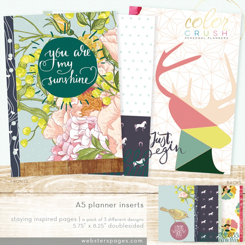A5 Inserts Staying Inspired Planner Webster's Pages