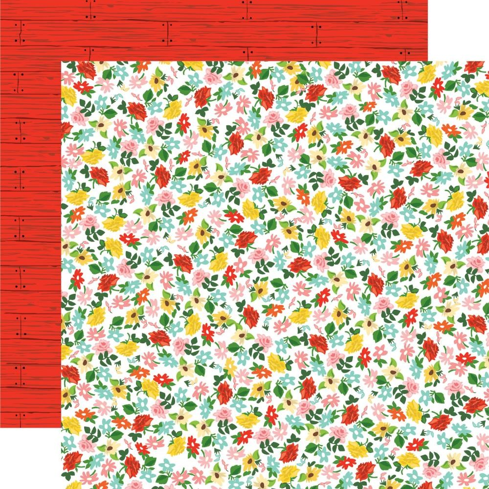 Papier Imprimé Recto-verso 12x12 Farm to Table Floral Frenzy