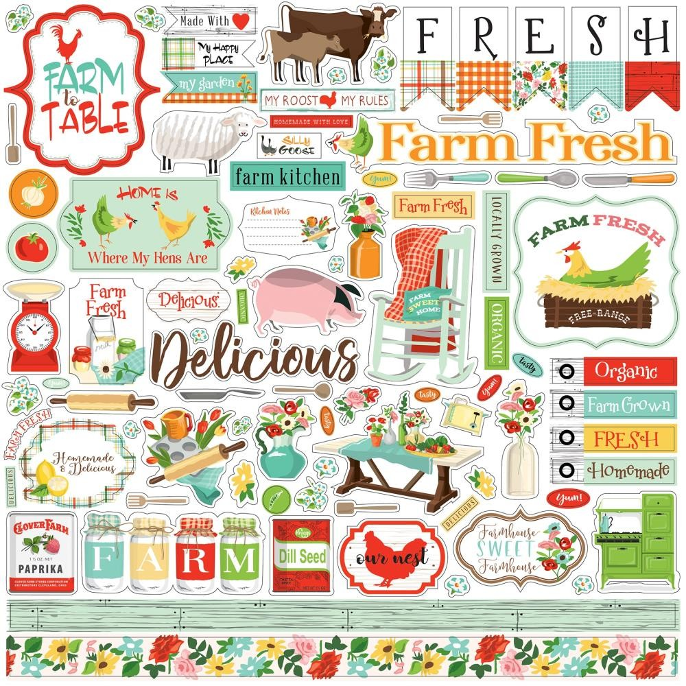 Autocollants 12x12 Farm to Table Elements
