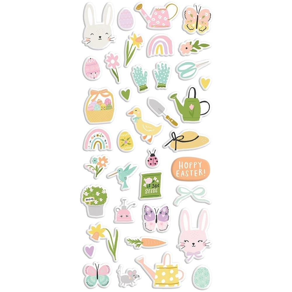 Autocollants Puffy Bunnies & Blooms