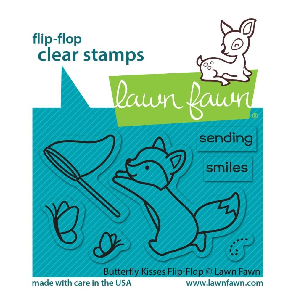 Tampon Acrylique 2x3 Lawn Fawn Butterfly Kisses Flip-Flop