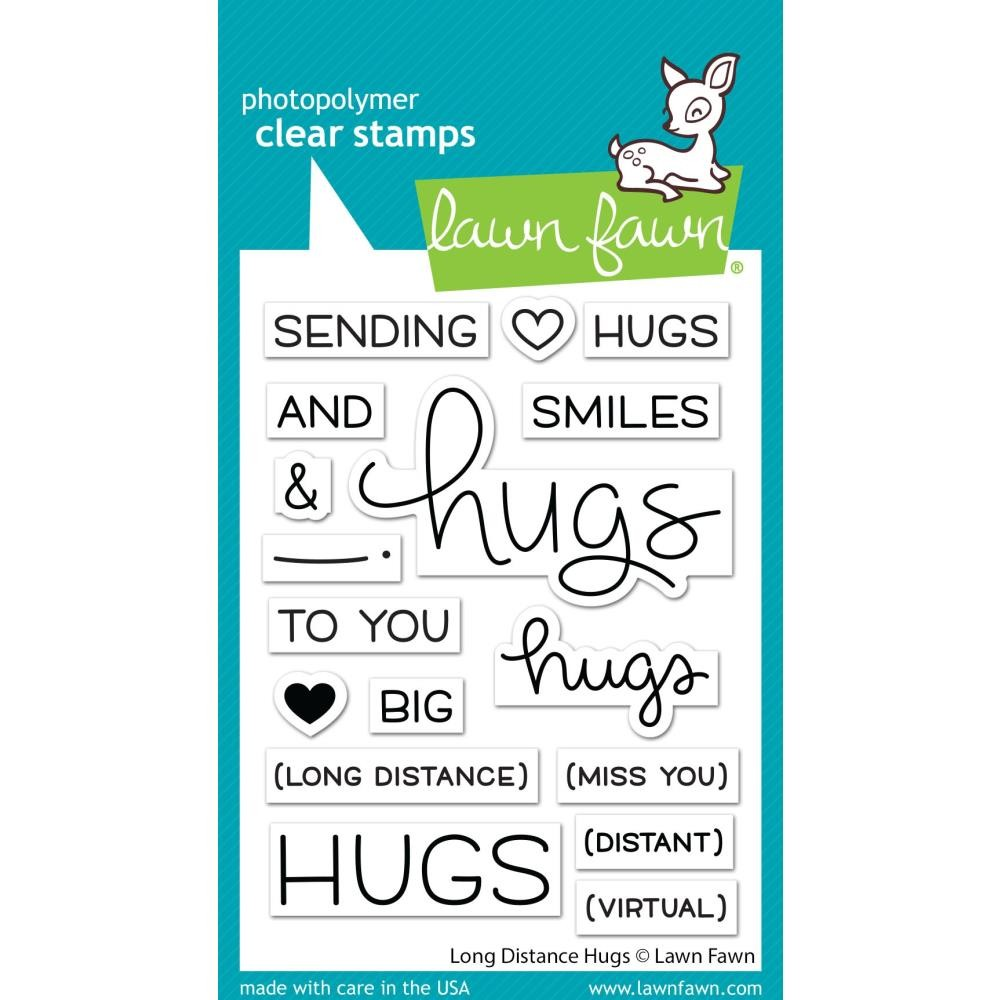 Tampon Acrylique 3x4 Lawn Fawn Long Distance Hugs