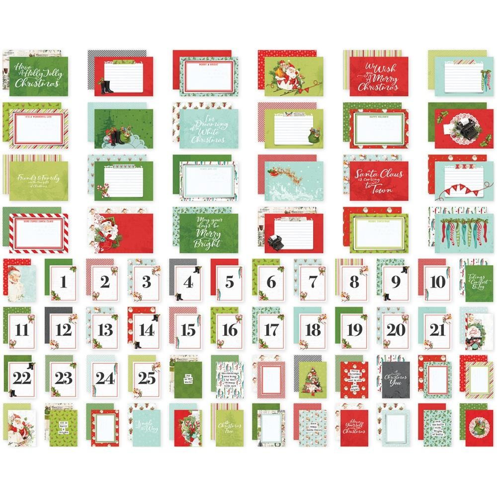 Lot de Cartes Project Life Simple Vintage North Pole