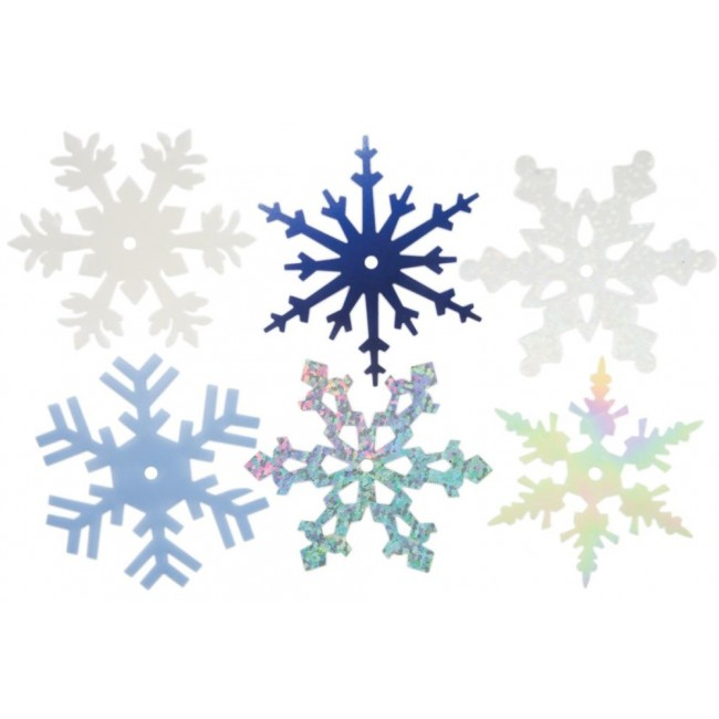 """Large Shimmer Snowflakes 2"""""""