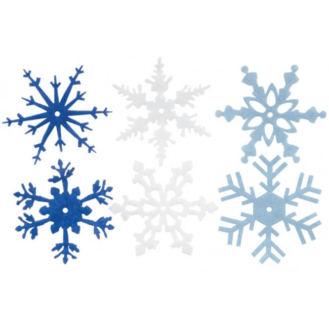 "Large Felt Snowflakes 2"" Winter"