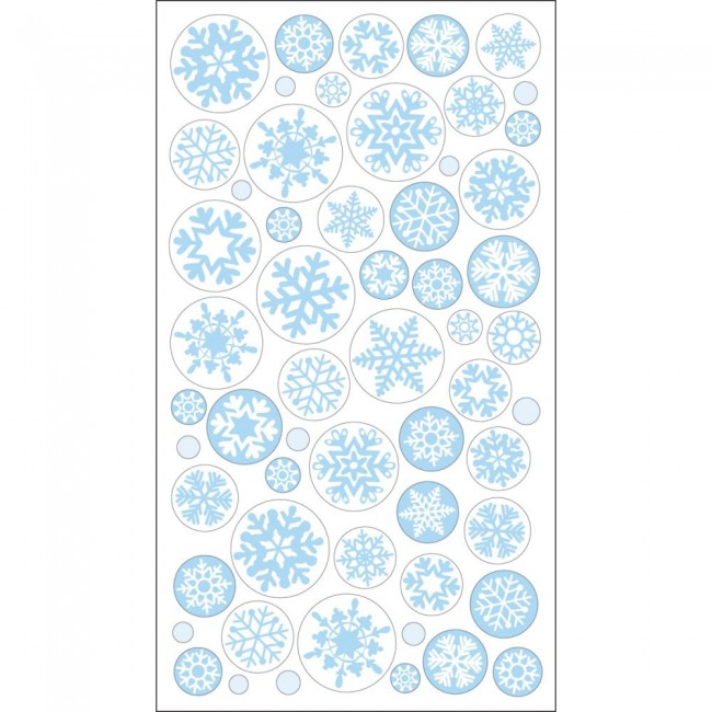 Icy Snowflakes Stickers