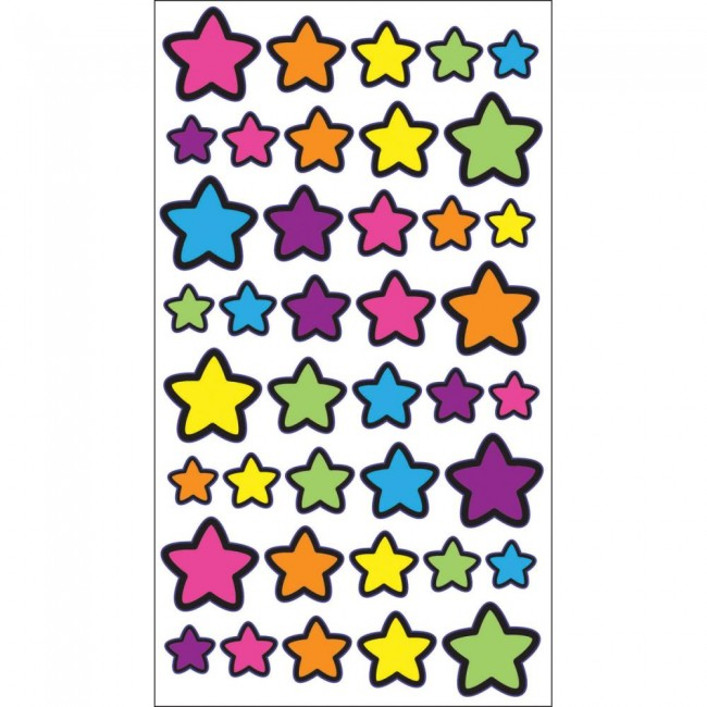 Technicolor Stars Stickers