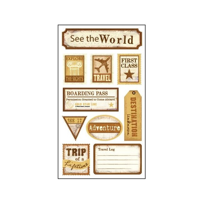 See The World Stickers