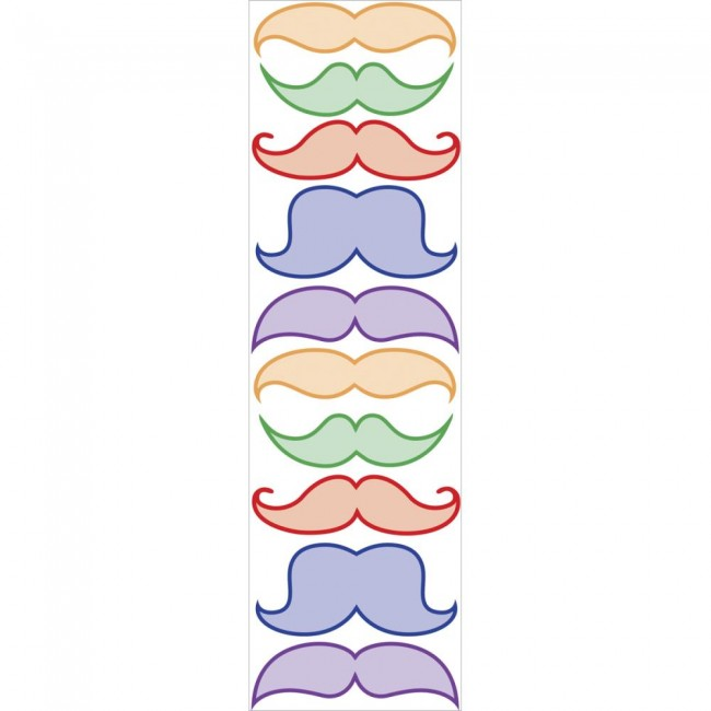 Colorful Mustaches Stickers