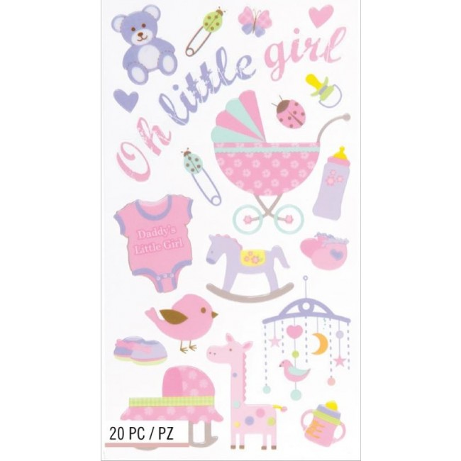 Oh Little Girl Stickers
