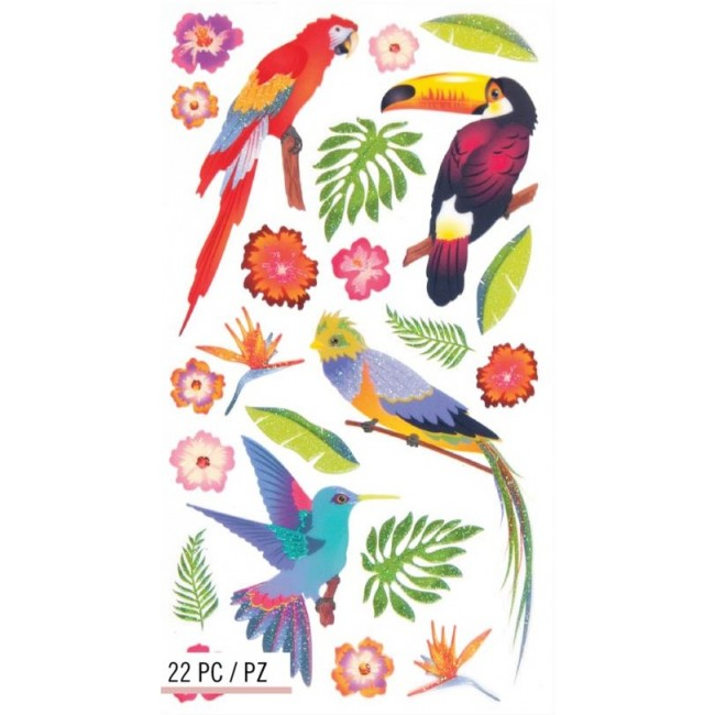 Colorful Birds Stickers
