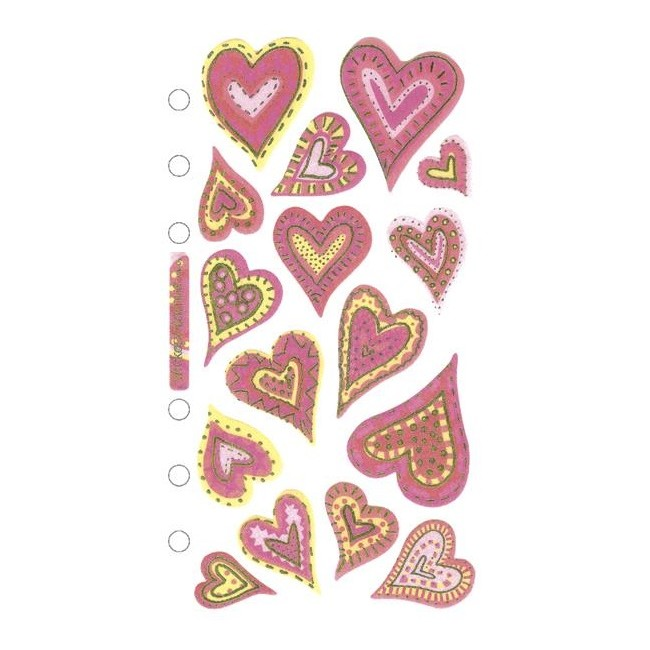 Expressive Hearts Stickers