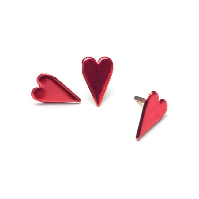 Metallic Red Country Heart Brads