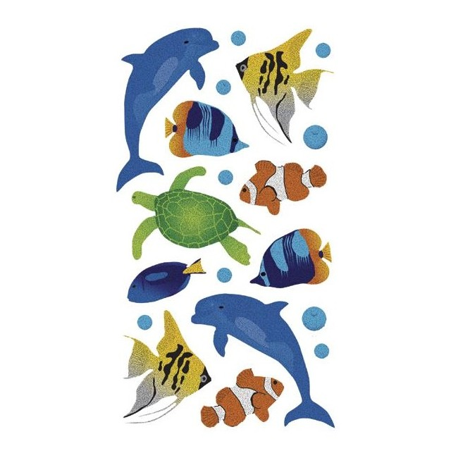 Sea Animals Metallic Stickers