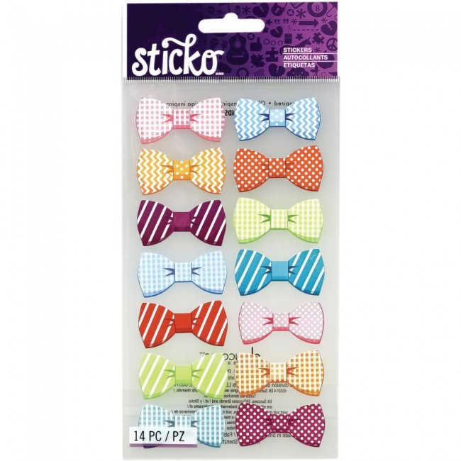 Pattern Bows Stickers