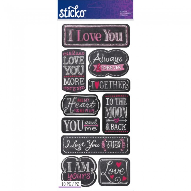 I Love You Stickers