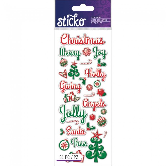 Christmas Words Stickers